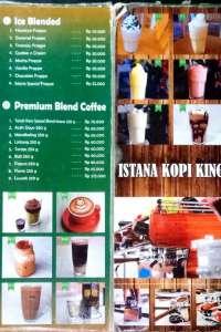 menu 0 Istana Kopi King