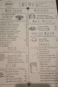 menu 0 Dough & Coffee (DOFFEE) Multatuli