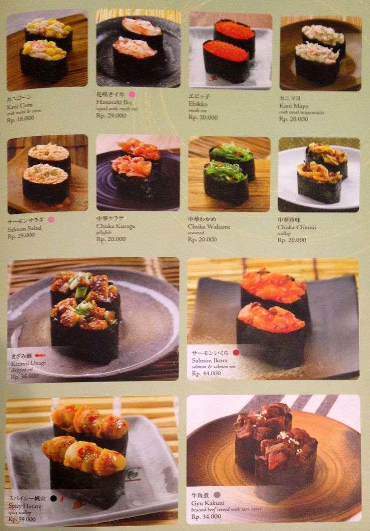 Sushi Tei Lippo Plaza Menu Medan Crazfood