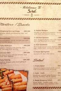 menu 0 Sowe Bistro
