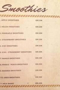menu 10 Sowe Bistro