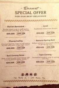 menu 13 Sowe Bistro